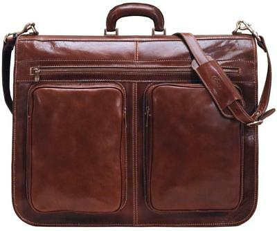 Floto Venezia Italian Garment Bag, Leather Travel Luggage Bag