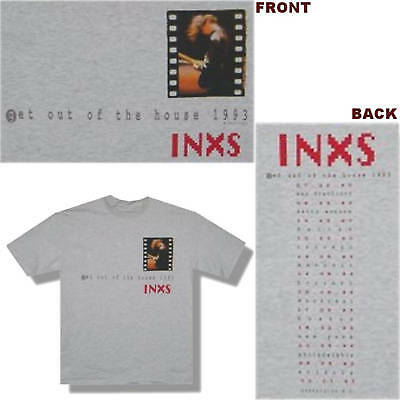 """Inxs """"filmstrip"""" Imageout Of The House 1993 Tour T-Shirt Large New Official"""