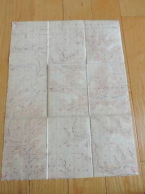 Vintage 1950s Topography Map WILDWOOD FIRE TOWER PA PENNSYLVANIA Topographic