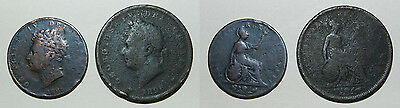 Great Britain : George Iv Penny & Half Penny 1826