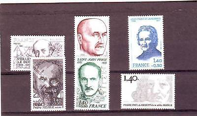 a120 - FRANCE - SG2350-2355 MNH 1980 RED CROSS FUND - CELEBRITIES