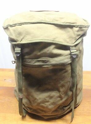 BSA Boy Scout - Rucksack Style Backpack w/Leather 1957 Jamboree Patch