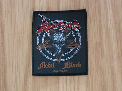 Venom - Metal Black (New) Sew On W-Patch Official Band Merchandise