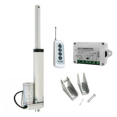 6'' 330lbs 12V Heavy Duty Linear Actuator W/ Wireless Control Kit Window Opener
