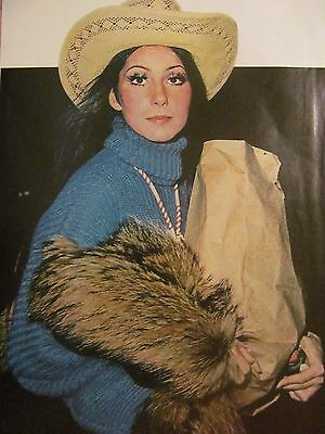 Cher, Robert Redford, Double Full Page Vintage Pinup