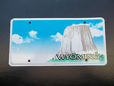 Wyoming  3M Blank  Pre-Production License Plate Wy   Wyo  Devil's Tower Graphic