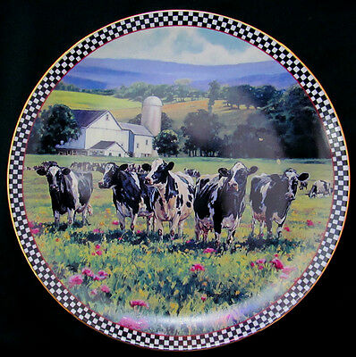 SWEET SUMMERTIME Plate Cows Mohr Farmstead Reflections Collection Danbury Mint