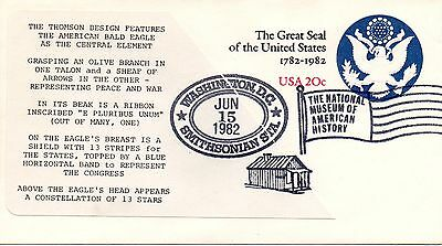 US FDC #U602 Great Seal Of US Unofficial, Quinn (3872)