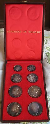 1963-1973 Bulgaria  8pc. Silver Proof Set