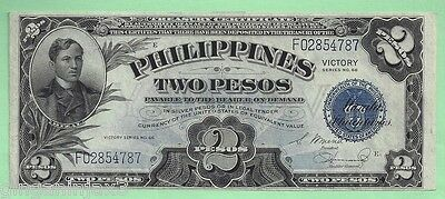 1944 US/Philippines 2 Pesos Victory Series 66 ~ P95a ~ Crisp Uncirculated