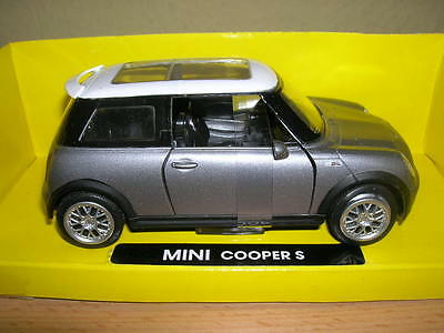 NewRay Mini Cooper S silver metallic silver 1:32 Model railway 1 gauge