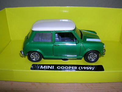 NewRay Mini Cooper 1959 green green 1:32 1 gauge Item 50613