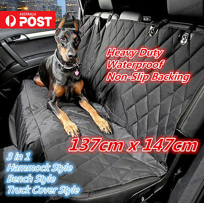 Heavy Duty Waterproof Pet Dog Cat Back Car Seat Protector Cover Hammock  Mat