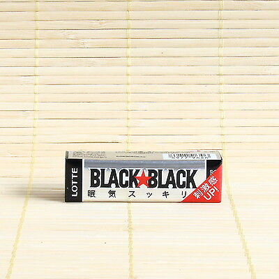 Japan Lotte BLACK BLACK GUM 1 PACK Strong Mint Japanese Chewing Candy Caffeine