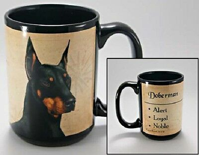 15 oz. Faithful Friends Mug - Doberman Pinscher MFF075