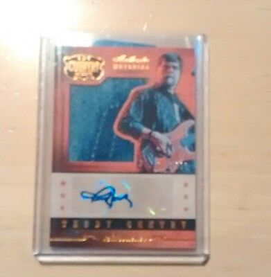 2014 Panini Country Music TEDDY GENTRY SILHOUETTES AUTOGRAPH RELIC /338 Alabama
