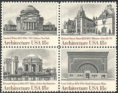USA 1981 Architects/Buildings/Architecture/Library/Bank/Palace 4v blk (n43288)