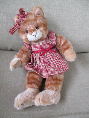 "Russ Berrie Tabby  Cat named Kittra 11"" Tall- Outfit # 100432"