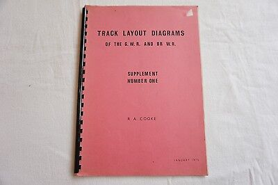 Track Layout Diagrams Book GWR & BR WR Supplement Number 1 Cooke Great Western