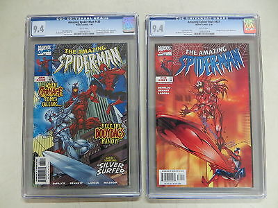 Amazing Spider-Man # 430 And #431 Cgc 9.4 White Pages Carnage Silver Surfer