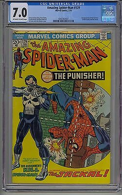Amazing Spider-Man #129 Cgc 7.0 Off-White To White Pages Marvel 1St Punisher