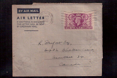 Great Britain 1948 Postal Stationary To Canada !!