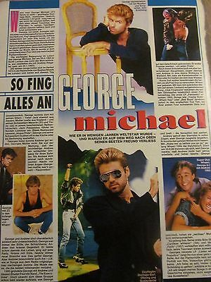 George Michael, Full Page Vintage Clipping, German Magazine