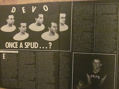Devo, Two Page Vintage Clipping