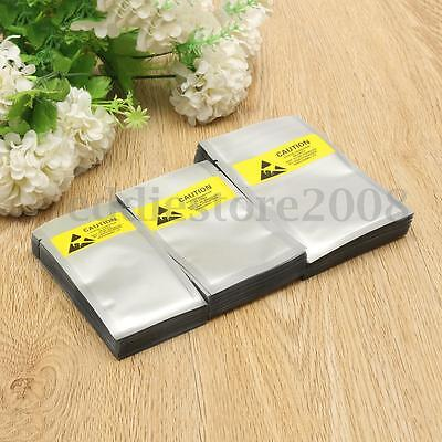 3X100 ESD Anti Static Shielding Bags Open-Top Waterproof Bag For Electronics New