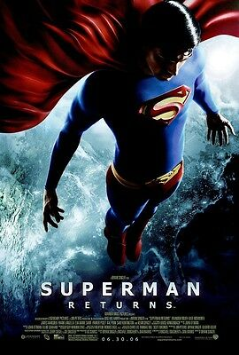 Superman Returns movie poster (b) Brandon Routh poster  - 11 x 17 inches