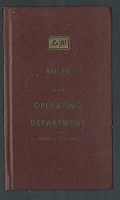L&n Railroad - Rules Of The Transportation  Department Book - 1962 Version