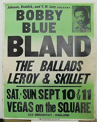 Bobby Blue Bland Concert Poster Oakland California 1982 Found Stapled to a Fence