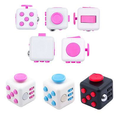 Fun 6 Sided Fidget Cube Dice Anxiety Attention Stress Relief Adults Student Toy