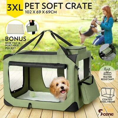 Foldable Pet Carrier Portable Soft Crate Cage Dog Cat Travel Bag Kennel 3XL