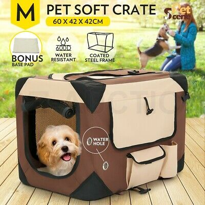 Medium Portable Pet Carrier Soft Crate Cage Dog Cat Travel Bag Kennel Foldable