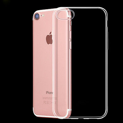 For iPhone 6s 7 8 Plus XS Max XR TPU Gel Jelly Skin Case Cover Transparent Clear