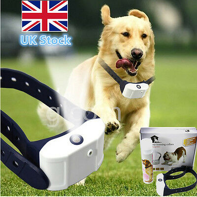 Stop Barking Rechargeable Citronella Dog Collar Anti No Bark Train Mist Spray UK