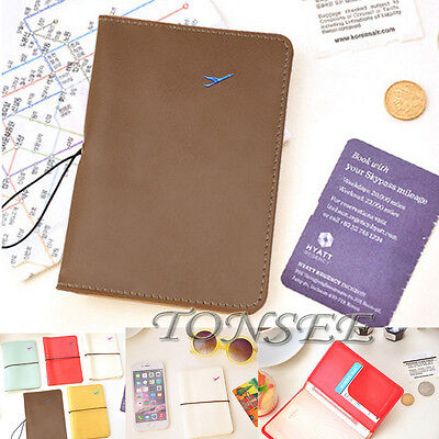 Travel Leather Passport Organizer Holder Card Case Protector Cover Wallet Bag