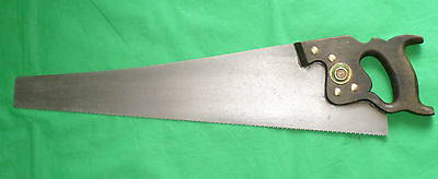 "Vintage Warranted Superior Cross Cut 24"" Blade 8 TPI Rip Saw Tool"