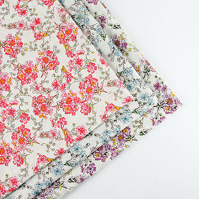 160x50cm Vintage Flower cotton fabric patchwork quilting sewing DIY Cloth