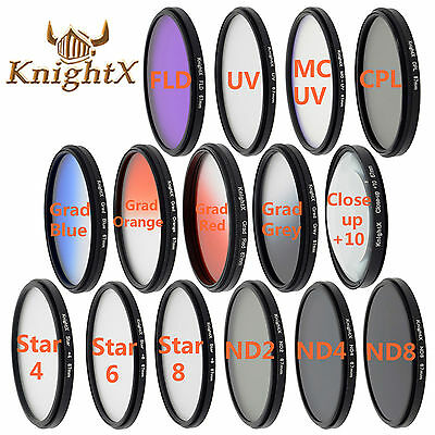 KnightX CPL UV FLD MC ND Star Close up Filter set for Canon Nikon d5200 d3300 MM