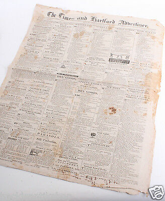 Original The Times and Hartford Advertiser 29.5.1822 Zeitung