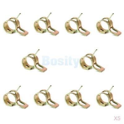 50pcs Spring Clip Fuel Hose Line Water Pipe Air Tube Clamps Fastener Dia. 6mm