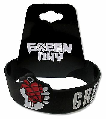 Green Day - American Idiot Black Silicone Wristband New Official One Size