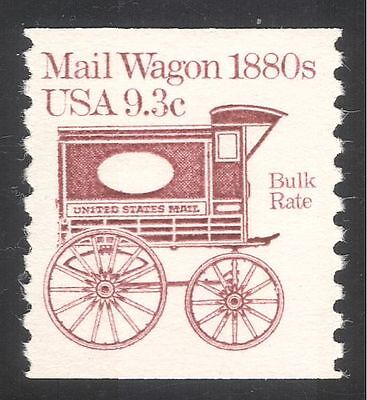 USA 1981 Horse Drawn Mail Wagon/Coach/Post/Postal Transport 1v coil (n24525)
