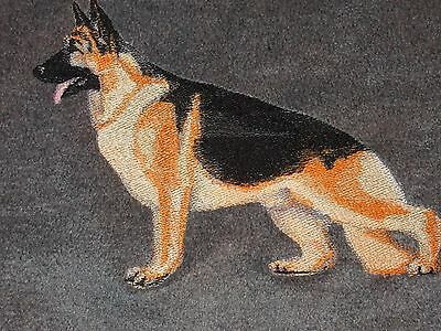 Large Embroidered Zippered Tote - German Shepherd BT4475