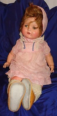 """RP2107 Reliable Toy Canada Soft Body Composition Sleepy Eyes Crying Doll 24""""TalL"""