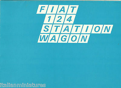 Fiat 124 Station Wagon Brochure Poster original 1973