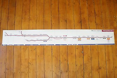 Olympics Underground Tube Metropolitan Line Carriage Map London 2012 Limited Ed