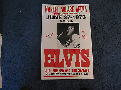 Elvis Presley Concert Poster 1976 Market Square Arena Indianapolis